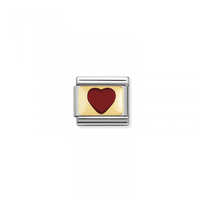 Charm Link NOMINATION Coração Vermelho