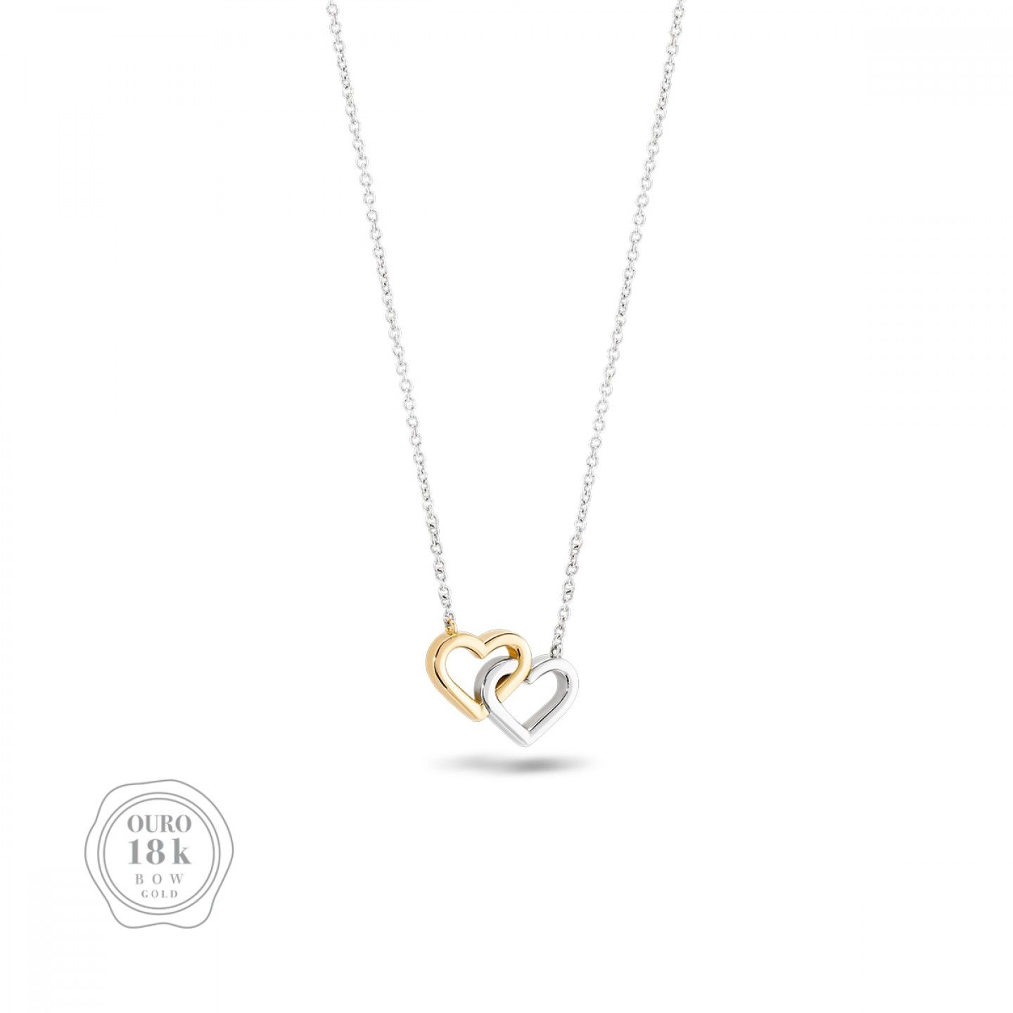 COLAR BOW GOLD TWO HEARTS I