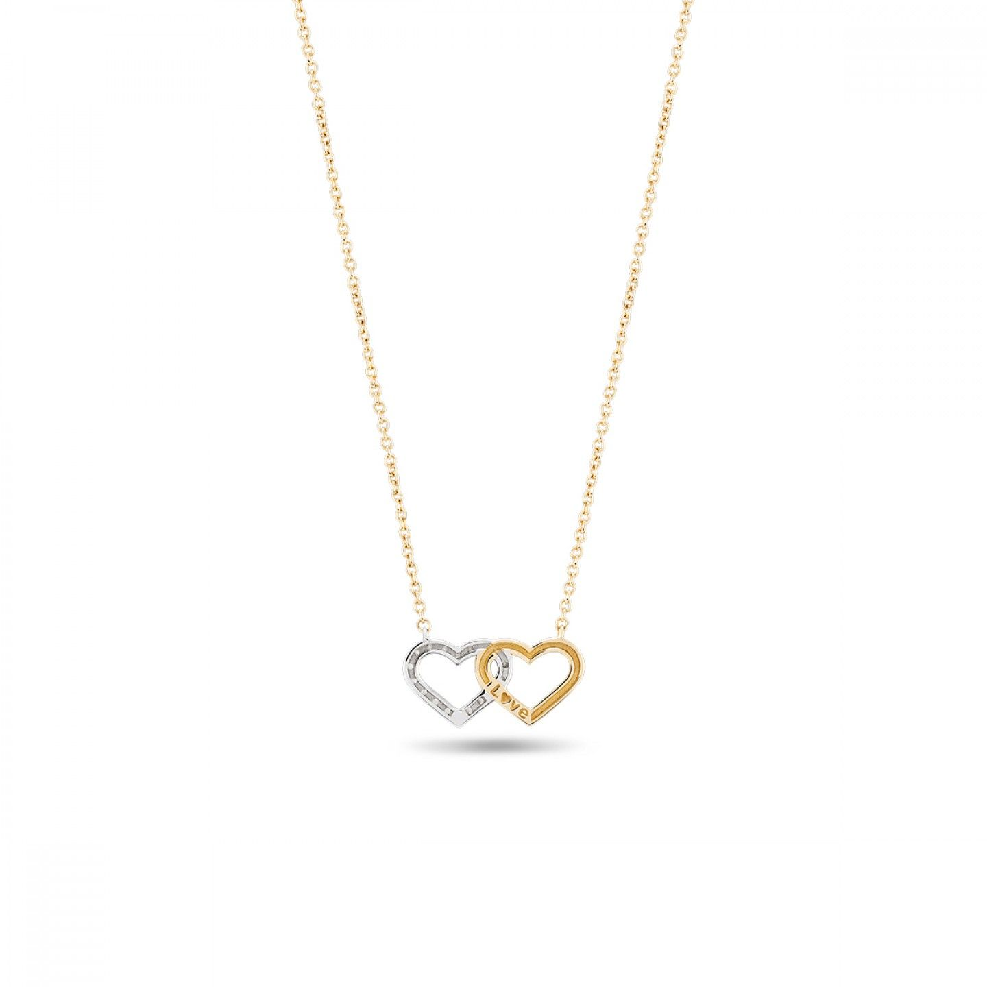COLAR BOW GOLD TWO HEARTS II