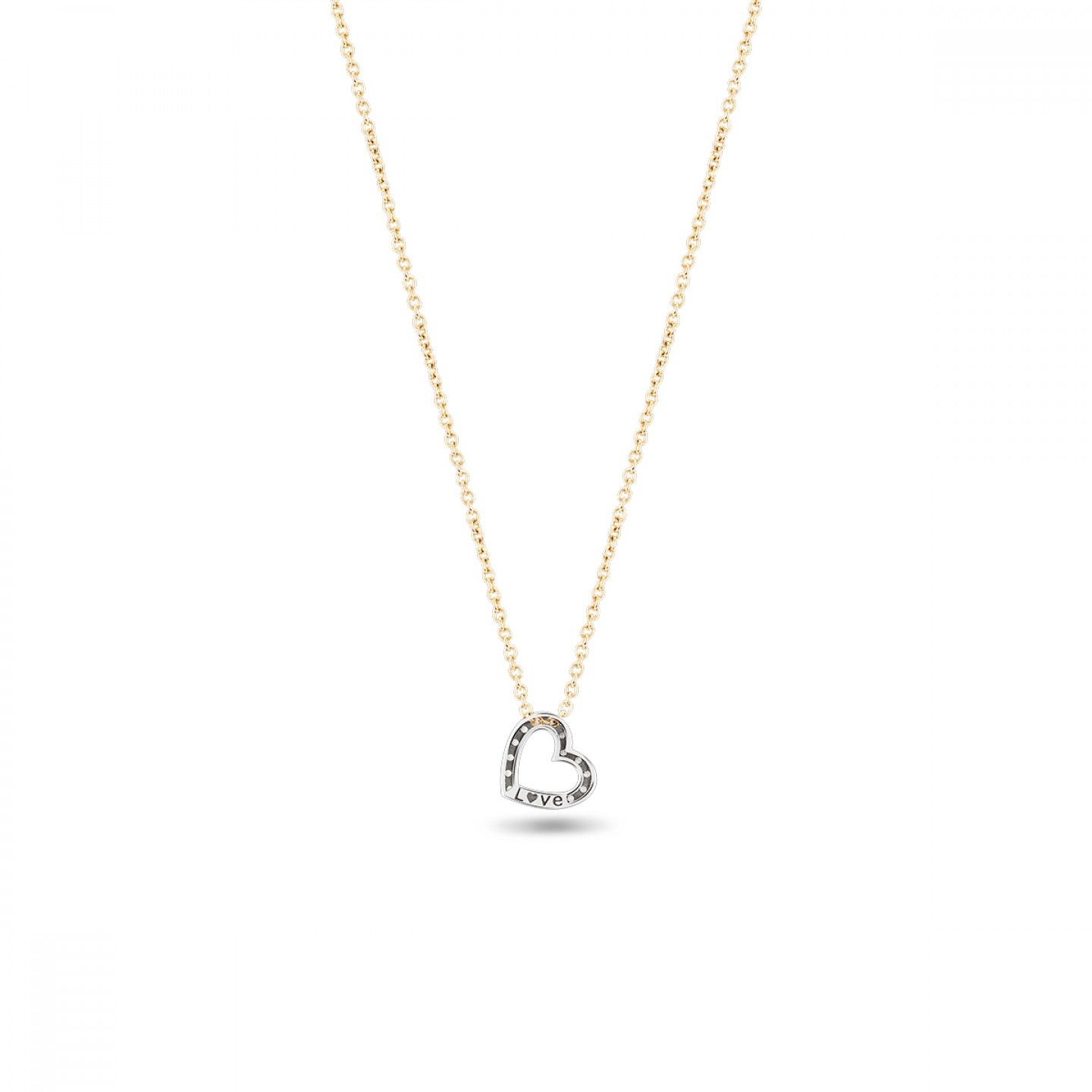 COLAR BOW GOLD ONE HEART I