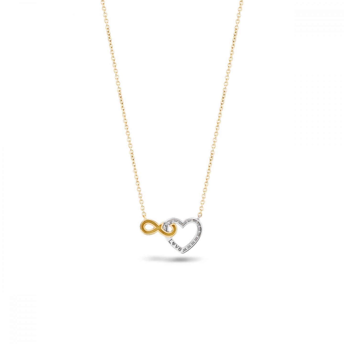 COLAR BOW GOLD INFINITE HEART I