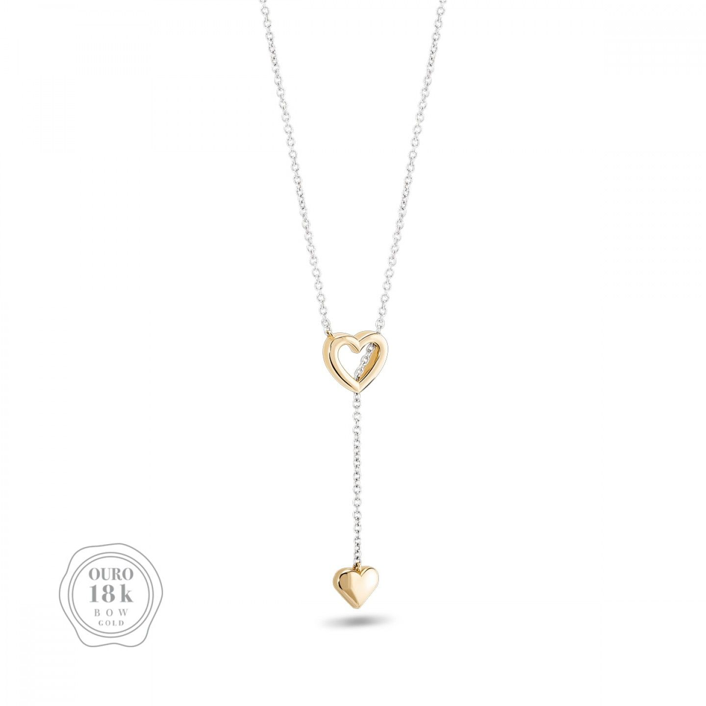 COLAR BOW GOLD TWO HEARTS III