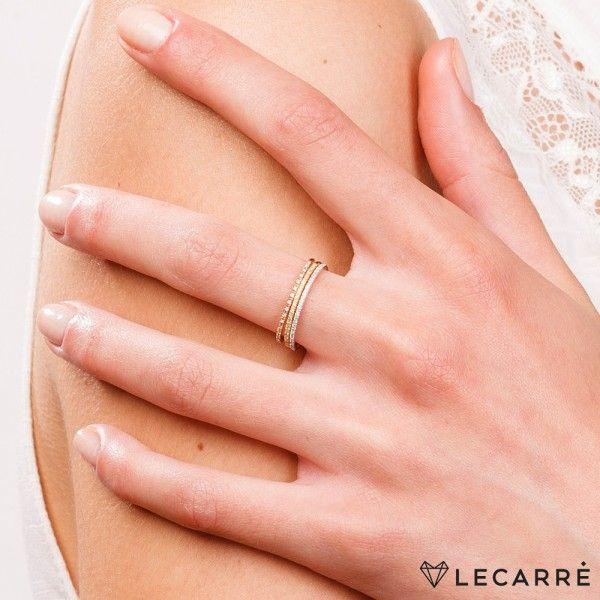Aliança LECARRÉ ouro 18k diamante 0,04 Q.HSI GA003OB.17