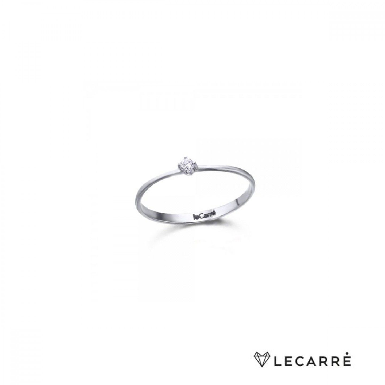 ANEL LECARRÉ ouro 18k diamante 0.05 Q.HSI