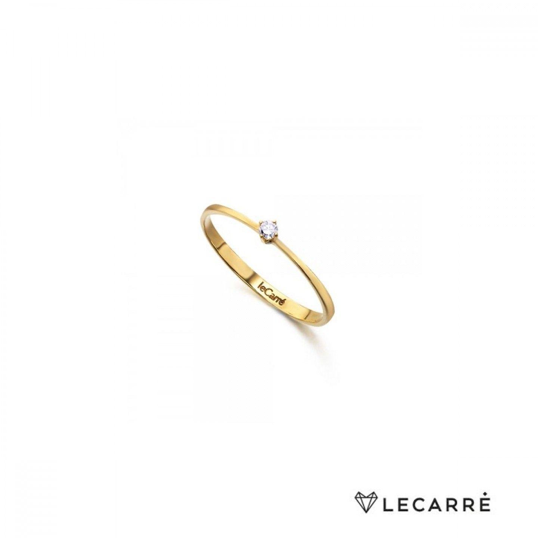 anel LECARRÉ ouro 18K DIAMANTE 0,05 Q.HSI