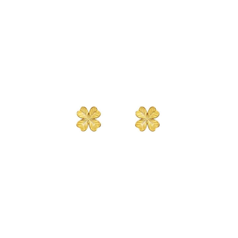 BRINCOS UNIKE FUN S21 CLOVER GOLD