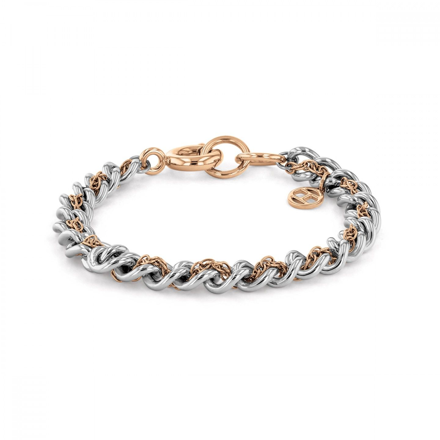 PULSEIRA TOMMY HILFIGER DOUBLE LINK BICOLOR